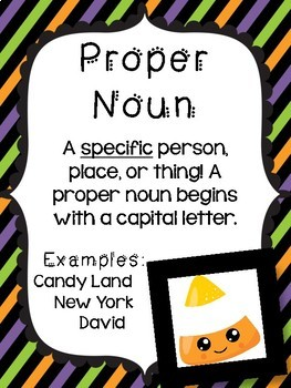 Common and Proper Noun Candy Corn Challenge