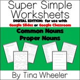 Common and Proper Noun Digital Worksheets ~ Use for Google