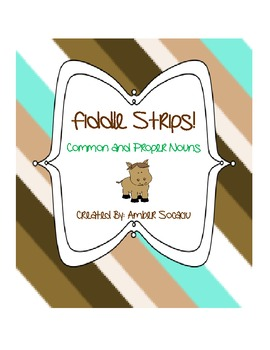 Common and Proper Noun - Fiddle Strips! Game with a Barnya