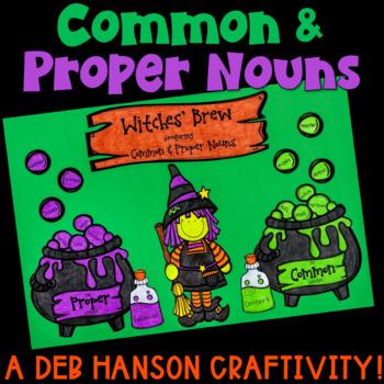 Common and Proper Nouns Halloween Craftivity
