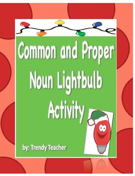 Common and Proper Noun Holiday activity
