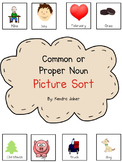 Common or Proper Noun Picture Sort (Great for struggling readers)