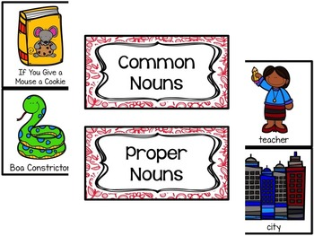 Common and Proper Noun Picture Cut and Sort