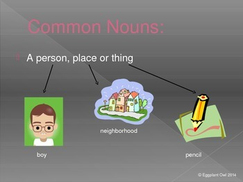 Common and Proper Noun PowerPoint (Common Core Aligned)