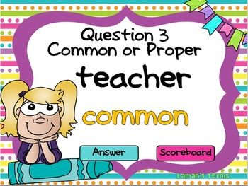 Common and Proper Noun PowerPoint Game