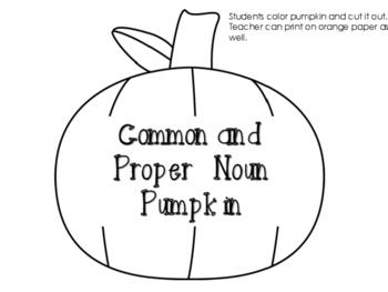 Common and Proper Noun Pumpkin Craftivity