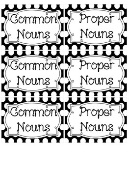 Common and Proper Noun Review Matching Game