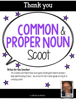 Common and Proper Noun Scoot
