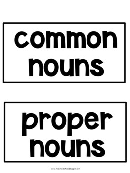 First Grade Language: Common and Proper Nouns