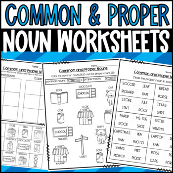 Common and Proper Noun Sort, Game and Mystery Picture