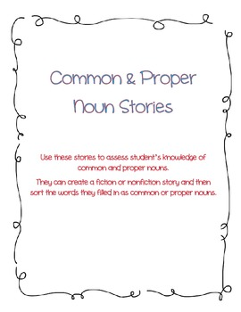 Common and Proper Noun Stories