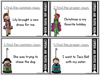 Common and Proper Noun Task Cards