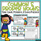 Common and Proper Noun Task Cards and Extra Practice