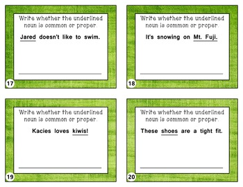 Common and Proper Noun Taskcards