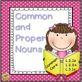 Common and Proper Noun Unit - 2nd and 3rd Grade!  L.2.1a, L.2.2a, L.3.1a