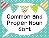 Common and Proper Noun Word Sort