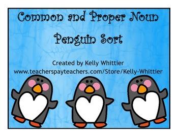 Common and Proper Noun Word Sort - Penguin Content!
