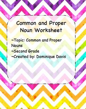 Common and Proper Noun Worksheet