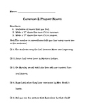 Common and Proper Noun Worksheet / Quiz