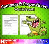 L.1.1.B - Common and Proper Nouns Worksheets