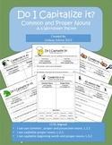 Common and Proper Nouns: 1st, 2nd, 3rd Grade Common Core P