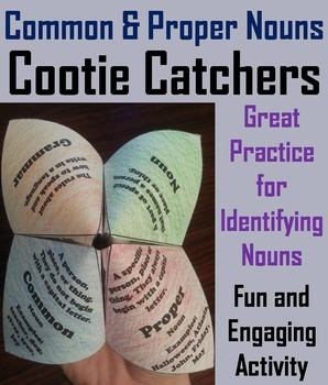 Common and Proper Nouns Activity 2nd 3rd 4th 5th Grade Grammar Games Foldable