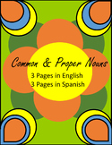 Common and Proper Nouns in English and Spanish