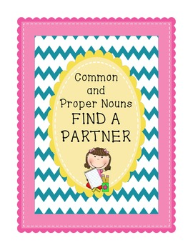 Common and Proper Nouns Activity Cards