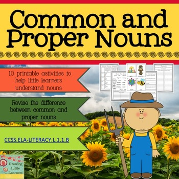 Common and Proper Nouns Activity Pack