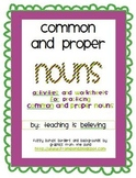 Common and Proper Nouns - Activity Pack