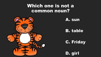 Common and Proper Nouns Are Tigerific - A PowerPoint Game