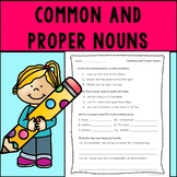 Common and Proper Nouns Assessment or Practice