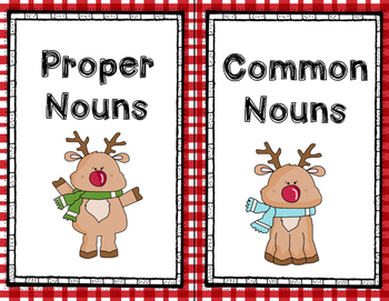 Common and Proper Nouns Christmas Version- Scoot Game- Task Cards or Center Game
