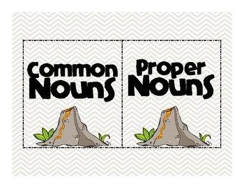 Common and Proper Nouns: Dinosaurs