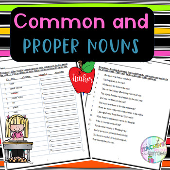 Common and Proper Nouns - Finding the Nouns