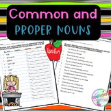 No-Prep Common and Proper Nouns - Identifying the Nouns