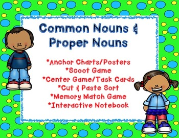 Common and Proper Nouns FuN set of activities
