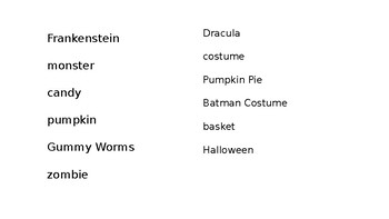 Common and Proper Nouns Halloween