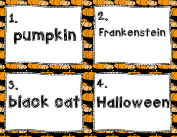 Common and Proper Nouns Halloween Version- Scoot Game- Task Cards or Center Game