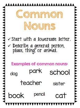 Common and Proper Nouns NO PREP Packet