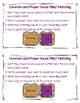 Common and Proper Nouns PB&J  Matching  FREEBIE!