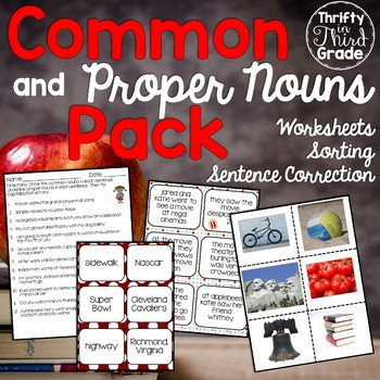 Common and Proper Nouns Activities and Practice
