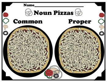 Common and Proper Nouns Pizza Sort
