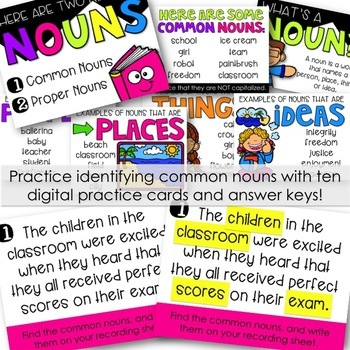 Common and Proper Nouns PowerPoint - An Interactive Lesson!