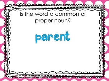 Common and Proper Nouns PowerPoint for Grades 1-4