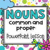 Parts of Speech: Common and Proper Nouns PowerPoint | Distance Learning