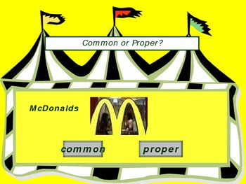 Common and Proper Nouns Practice Power Point Presentation