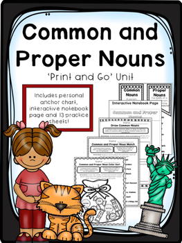 Common and Proper Nouns - Print and Go Unit