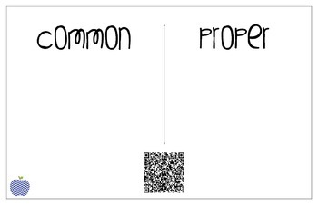 Common and Proper Nouns - QR Code Sort