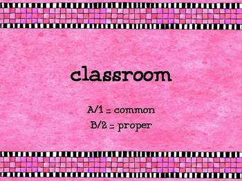Common and Proper Nouns Question Set for Classroom Responders - PDF